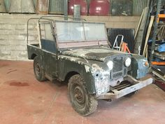 Landrover Defender: Land Rover Series 1 1951 Barn Find We can deliver nationwide Off Road, Land Rovers, Barn Finds, Land Rover Defender, Range Rover, Landing, 4x4, Monster Trucks, Classic