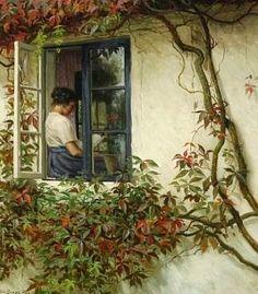 Woman at the Window, 1926 ~ Karl Harald Alfred Broge ~ (Danish: 1870-1955)