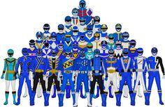 All of Super Sentai's Blues by Taiko554 on deviantART