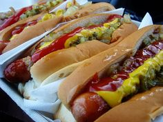 Hot Dog Bar: No single food screams baseball more than a tasty hot dog. If youre hosting a World Series party, be sure to take our tips on building your own  hot dog bar.  Source: Flickr User dinnercraft