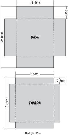 Moldes de caixas para presente - Artesanato Passo a Passo! Diy Gift Box, Diy Gifts, Paper Box Template, Diy And Crafts, Paper Crafts, Cardboard Crafts, Box Patterns, Exploding Boxes, Explosion Box