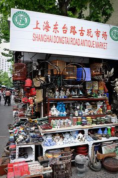 Street Antique Markets in Shanghai