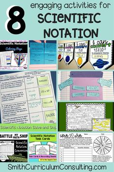 8 Engaging Activities for Scientific Notation • Smith Curriculum and Consulting