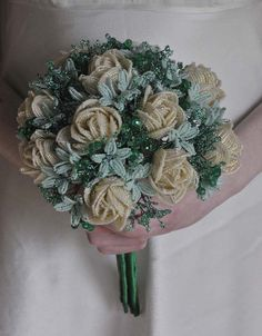 A simple hand-tied bouquet from Bead Flowers UK