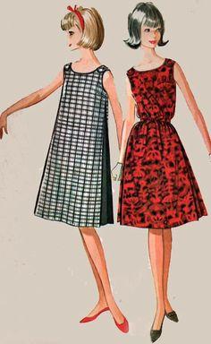 Vintage 60s Sewing Pattern McCalls 6891 MOD Muu Muu by sandritocat, $12.00