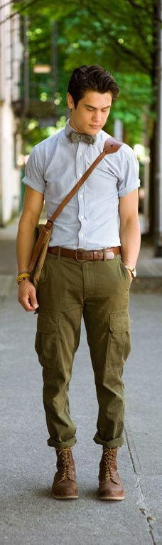On the cuff in khaki and grey. #Zappos
