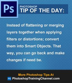 Instead of flattening or merging layers together when applying filters or distortions