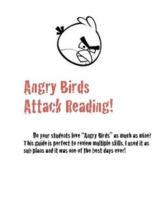 Spice up your reading plans with this Angry Birds lesson! All the students are lovin' the game right now so mix it with a little review. This is pe...