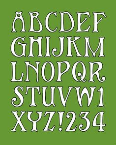 Art deco style alphabet, made in the style of a window lettering that i saw on a picture.