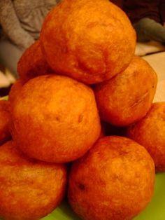 Puerto Rican/Cuban Recipes. Rellenos de Papas. Potato on the outside. Filling on the inside.