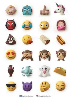 I recreated Whatapp Emojis using plasticine.