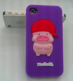 New Cute 3D McDull Style Pig Silicone Case Skin Back Cover for iPhone 4 4G 4S   eBay