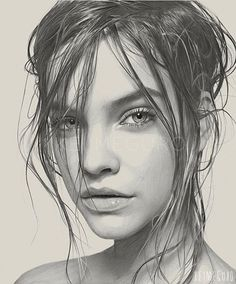 wet hair illustration - Google Search