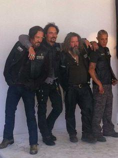 Chibs // Tig // Bobby // Juice // Sons Of Anarchy Serie Sons Of Anarchy, Sons Of Anarchy Samcro, Sons Of Arnachy, Kim Coates, Ryan Hurst, Theo Rossi, Tommy Flanagan, Jax Teller, Karl Urban