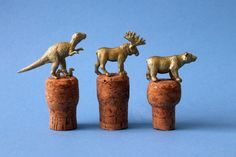 Gold Animal Wine Stoppers | Brit + Co.