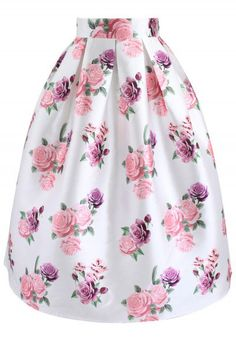 - Rose pattern - Box pleats from waist - Concealed back zip closure - Lined - polyester - Machine washable Size(cm)Length Waist XS 75 64 S 75 69 M 75 75 L 75 81 XL 75 86 XXL 75 90 Size(inch)Length Waist XS 25 S 27 M L . Floral Fashion, Unique Fashion, Fashion Fashion, Fashion Dress Up Games, Fashion Dresses, Girly Outfits, Skirt Outfits, Pleated Midi Skirt, Cute Skirts