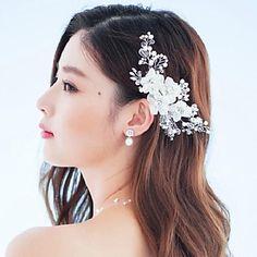 Mujer Diamantes Sintéticos / Cristal / Aleación / Tejido Celada-Boda / Ocasión especial / Al Aire Libre Flores / Pasador 2530324 2016 – $9.99