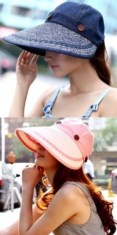 a858839fc29 2016 Summer Hats For Women Sun Hat Beach Cap Large brim Casual Panama For  GirlsVisor Sombreros