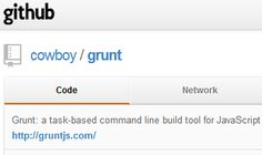 Grunt: a task-based command line build tool for JavaScript projects