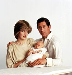 Princess Diana:  Prince and Princess of Wales and baby Prince William, 1982