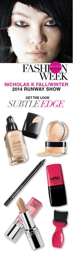 Subtle Edge: recreate Lauren Andersen's #AvonMakeup reverse cat eye from the @Nicholas K  runway! #NYFW #beauty