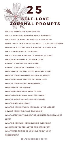 Do you ever doubt your self-worth? Have you ever felt as if you weren't good enough? Try these self-love journal prompts to encourage self-love. Love Journal, Journal Ideas, How To Journal, Journal Prompts For Adults, Gratitude Journal Prompts, Gratitude Quotes, Bullet Journal Prompts, Therapy Journal, Art Therapy