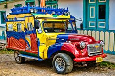 Colombian Art, Colombia Travel, Thinking Day, Beautiful Places In The World, Photography Photos, Cool Cars, The Neighbourhood, Monster Trucks, Road Trip