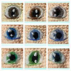 ojos bordados para amigurumi