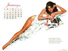 1952 01 Esquire Calendar January Ernest Chiriaka