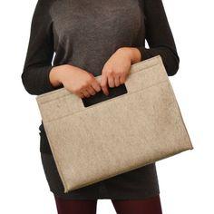 Felt HANDBAG cream wool felt women bag by anonimaMenteSHOP on Etsy