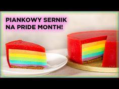 Przepis na TĘCZOWY SERNIK z okazji PRIDE MONTH! 🏳️🌈   Sugarlady - YouTube Cake, Youtube, Food, Kuchen, Essen, Meals, Torte, Cookies, Youtubers