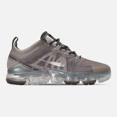 Right view of Women s Nike Air VaporMax 2019 Premium Running Shoes in  Mineral Spruce Metallic 19389d3db