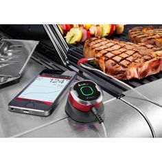 Know just when to take your meat off the grill with the iGrill Thermometer!