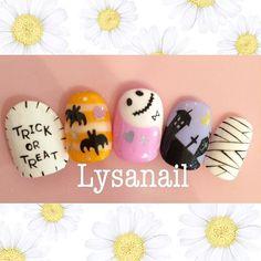 . 【Cプラン】 ハロウィンネイル . ご予約・お問い合わせはこちらまで→→→『info@lysa.jp』 詳しいメニュー内容はプロフィールのURLからご覧いただけます✨ . #手描きネイル #手描きアート #lysa #lysanail #nail #nails #nailart #nailarts #ネイル #ネイルアート #ジェルネイル #ハロウィンネイル