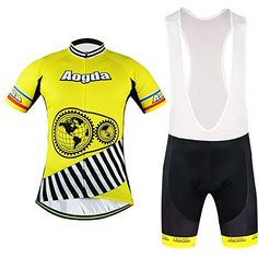 2016Newest MensAogda Cyclist Jerseys BicicletaCycling ShortSleeveJerseysSummerCiclismoBicycleSkinsuits ShirtsAogda Team RidingBikeClothingyellow B010 Bib Shorts Set L ** Check out this great product.(This is an Amazon affiliate link and I receive a commission for the sales)