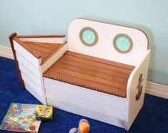 Wood Toy Box, Toy Chest,Nautical Toy Box, Bright White Wooden Boat Toy Box, Toy Boat, Toy Storage, Nautical nursery,kids bench,playroom - Edit Listing - Etsy