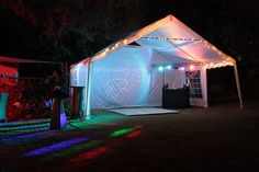 A Gala Tent Marquee being used as a disco party tent for a garden party