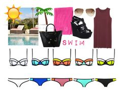 """Swim ☀️"" by ariana-kurti ❤ liked on Polyvore featuring Lane Venture, Chloé, Sexy Romantie, Athleta, Monki and Steve Madden"