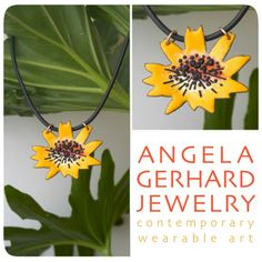 Summer Flower Necklace from Angela Gerhard Jewelry for $135 on Square Market