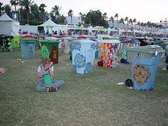 Crazy trash can art