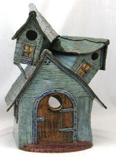 clay bird house