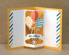 RunningwScissors Stamper  by Heidi Baks  Stampin' Up! Balloon Adventures, Balloon Pop-Up Thinlits Dies, Party Animal Embellishments, Party Animal DSP