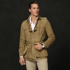 ralph lauren safari watch for men | Ralph Lauren Purple Label Lancey Safari Jacket in Brown for Men (Green ...