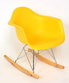 Take a look at this Yellow Roc Tod Kids' Rocking Chair by Controlbrand on #zulily today!