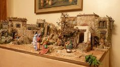 Now that's what I call a nativity scene! Christmas Crib Ideas, Christmas Activities, Christmas Holidays, Christmas Crafts, Christmas Decorations, Merry Christmas, Xmas, Christmas Nativity Scene, Christmas Villages
