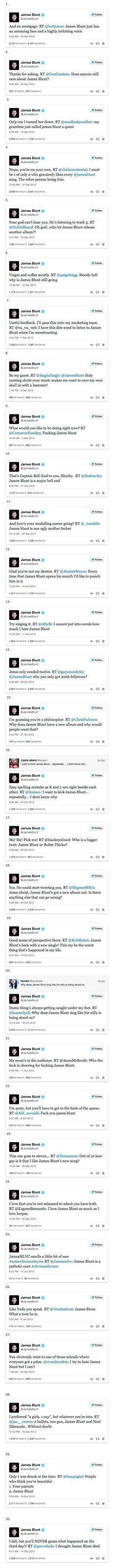 30 Reasons Why James Blunt Won At Twitter In 2013