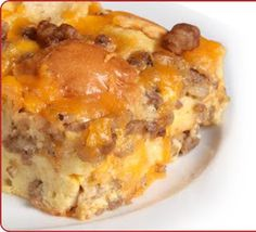 Sausage Crescent Roll Casserole  Making this for Father's day breakfast today!!