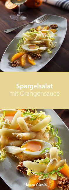 Spargelsalat mit Orangensauce