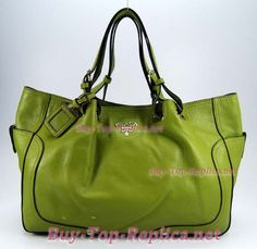 Prada Green Leather Handbag