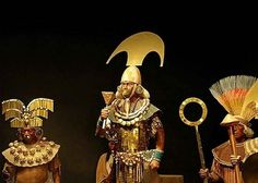 A reconstruction showing the items the Lord of Sipan was wearing, along with his…